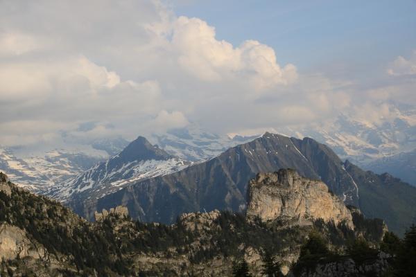 maenlichen tschuggen and lauberhorn mountains near