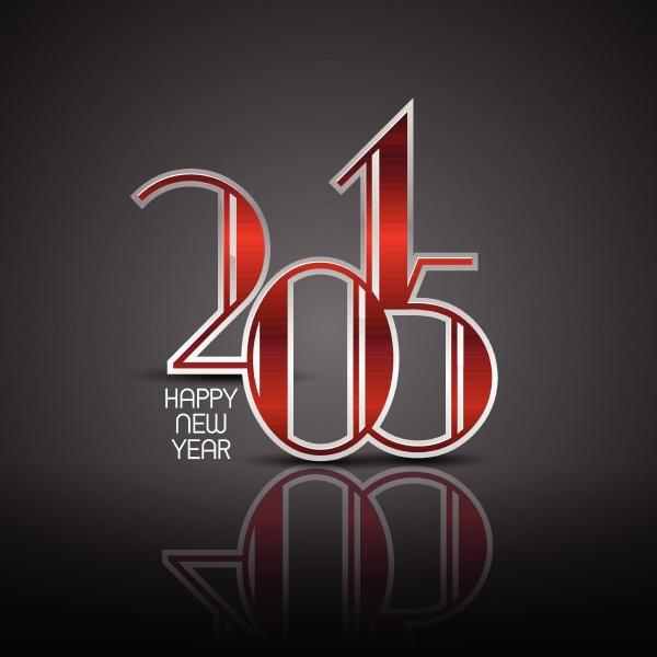 art deco styled new year background