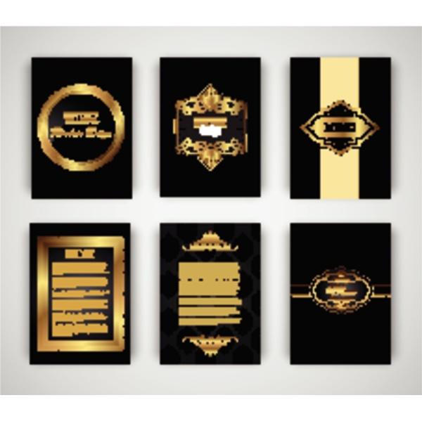 gold and black brochure and menu