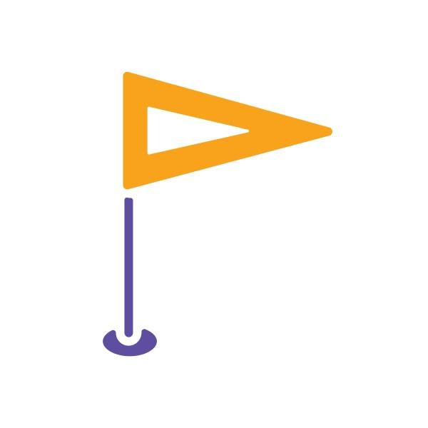 flag gps pin vector glyph icon