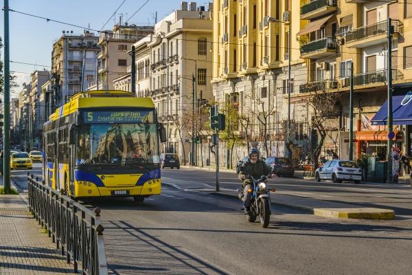 urban scene athens greece