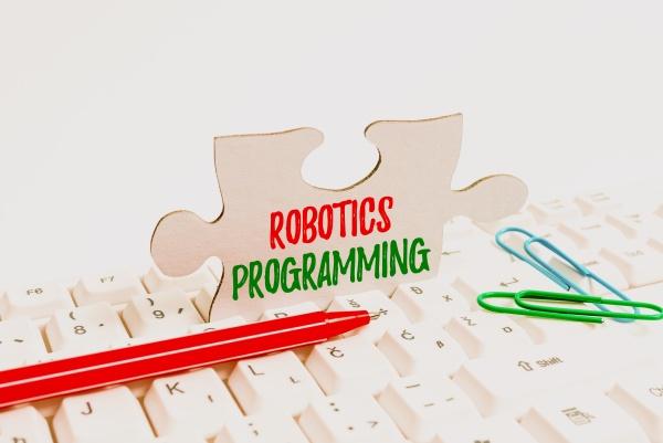 writing displaying text robotics programming business