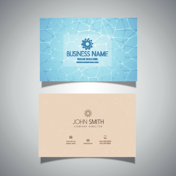 business card with swimming pool water
