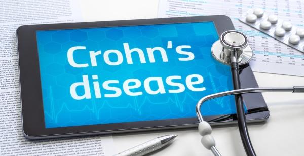 the word crohn s disease on