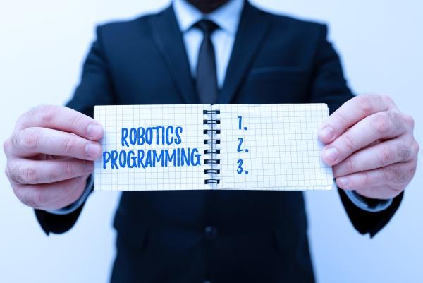 hand writing sign robotics programming business