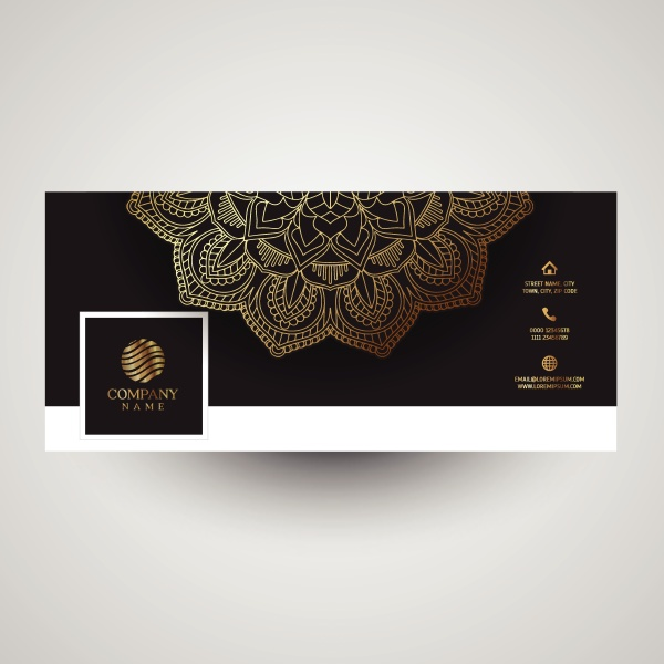 decorative social media cover with mandala