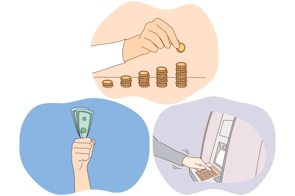 money savings earning financial wealth concept