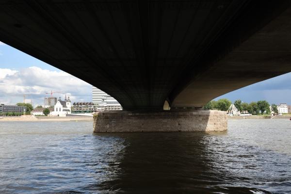 deutzer bridge over the rhine in
