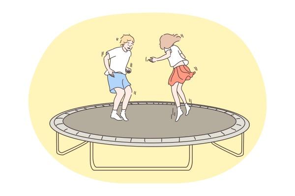 jumping children holiday childhood