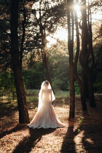 girl in a wedding dress in