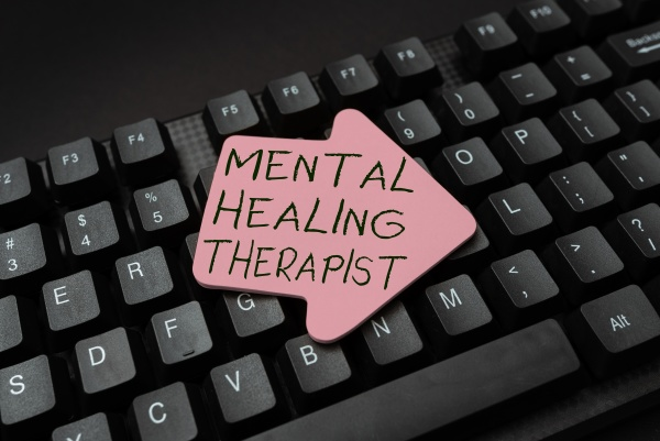 conceptual display mental healing therapist business
