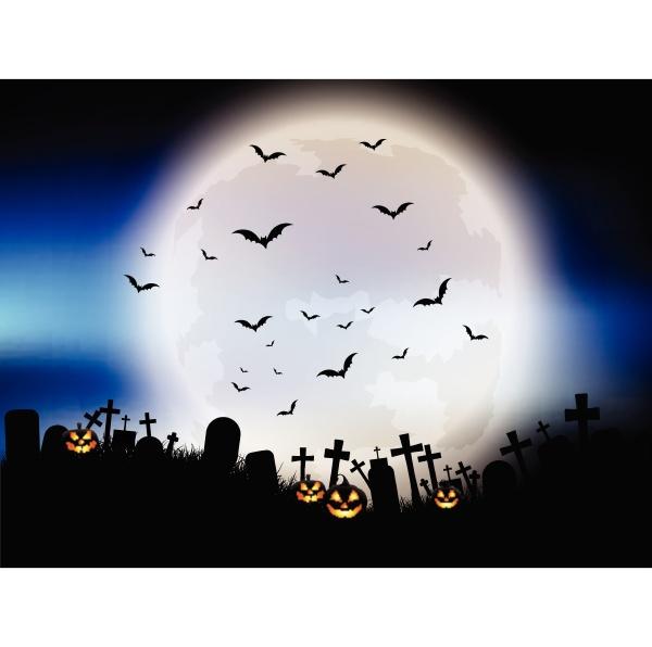 halloween moon landscape