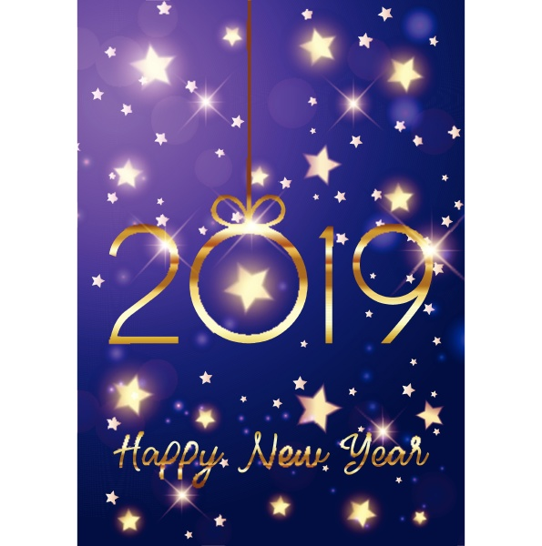 happy new year background with gold
