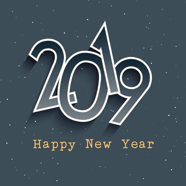 happy new year retro styled background