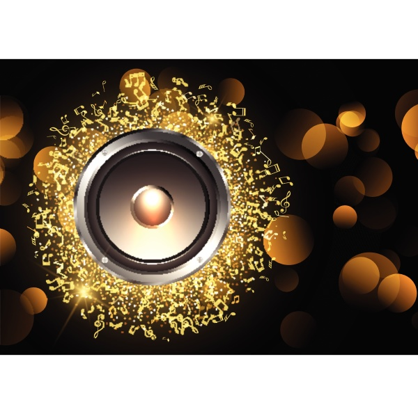 music background with speaker and music
