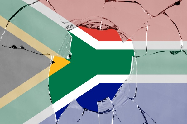 3d flag of south africa on
