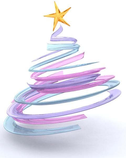 glass spiral christmas tree