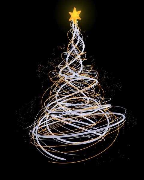 neon christmas tree concept