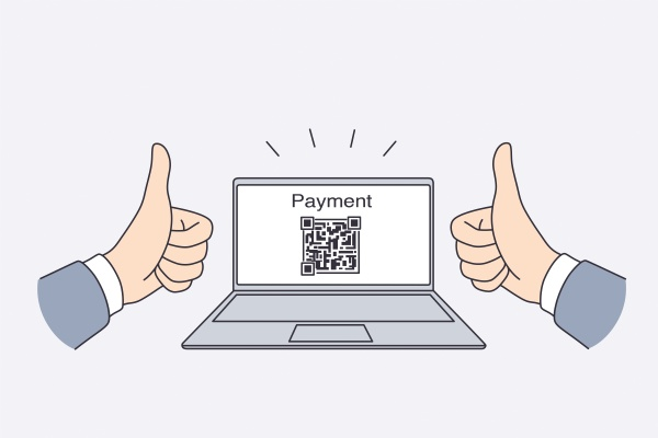 electronic payment with qr code concept