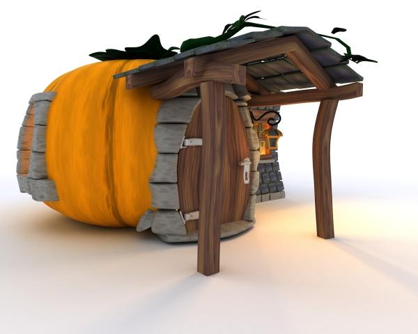 halloween pumpkin cottage