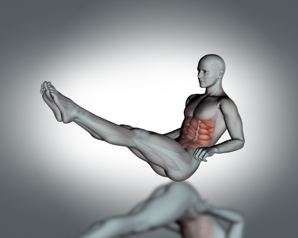 3d male figure with partial muscle