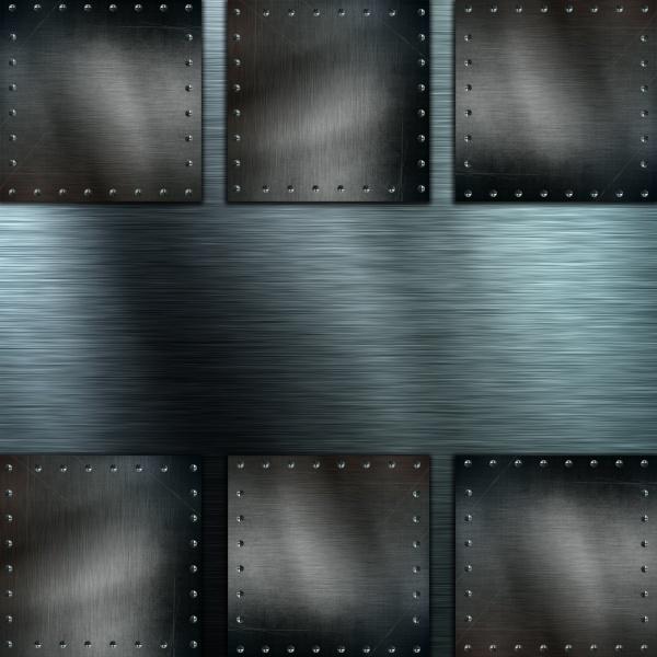 brushed metal background with grunge metallic