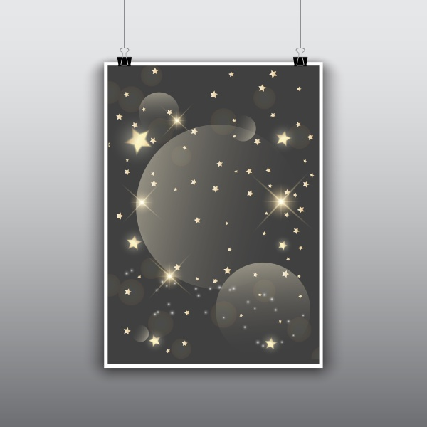 starry poster design
