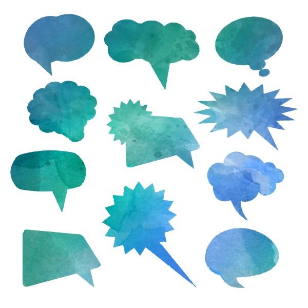 watercolour speech bubbles 0701
