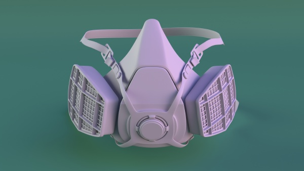 isolated dust mask