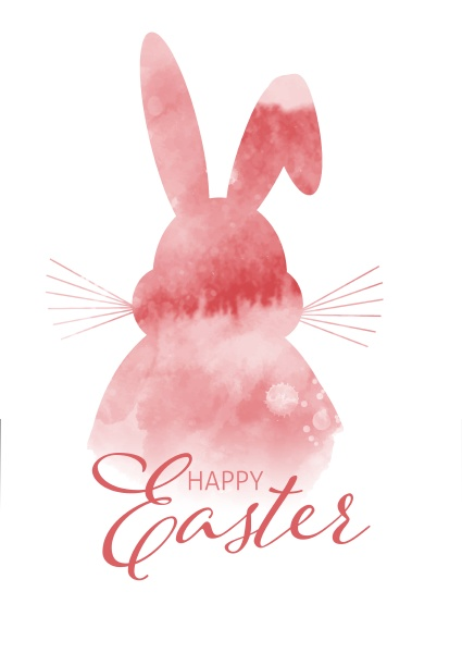 watercolour easter bunny background