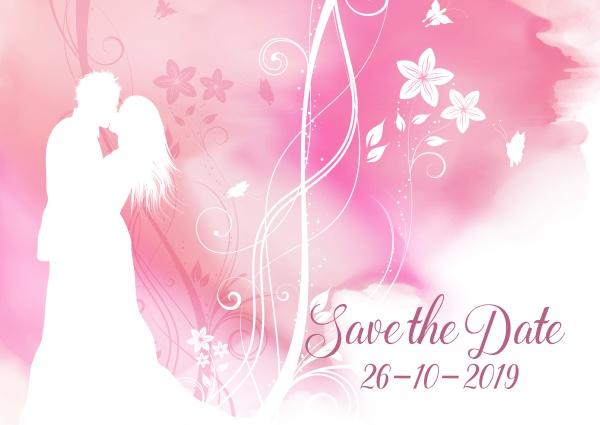 watercolour save the date decorative invitation