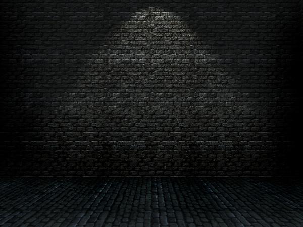 3d grunge brick interior