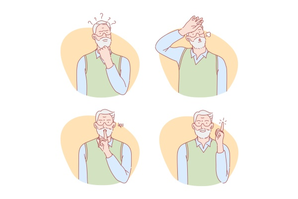 old age thinking idea silence relief