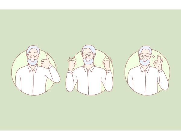 people old man male sinility age