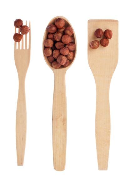 wooden spoon fork shovel with filbert
