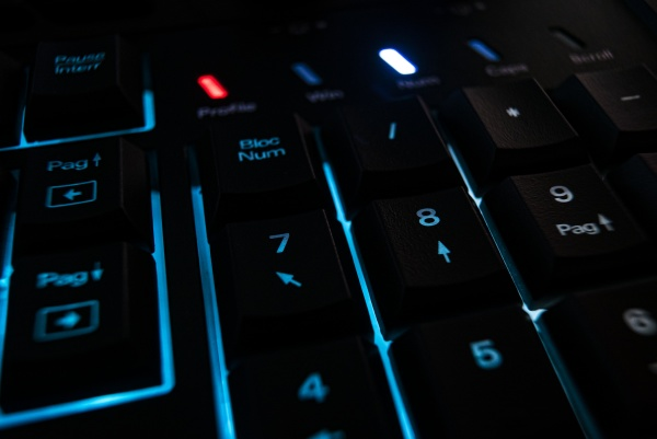 backlit keyboard detail 2