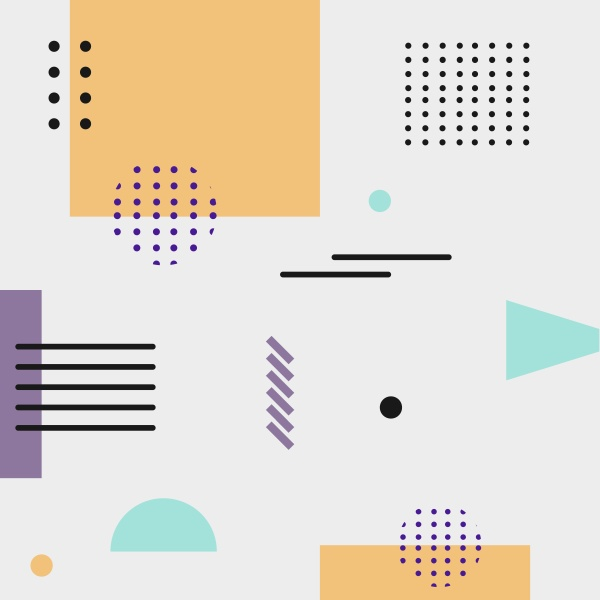 abstract background with different geometric shapes