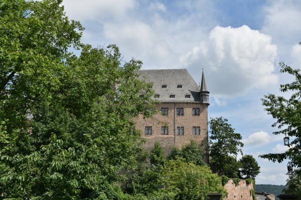 the marburg castle in hesse germany