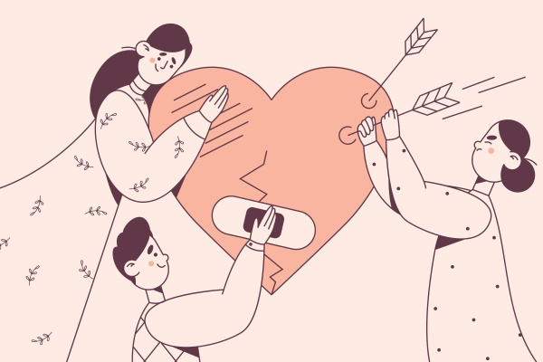 helping hand support volunteering concept