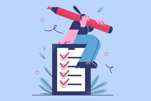time management checklist and successful
