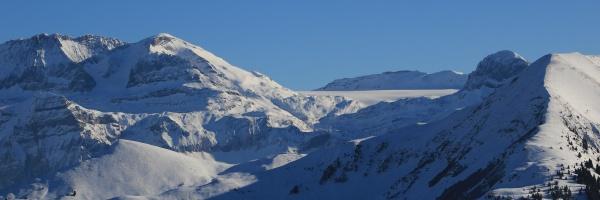 wildstrubel and glacier de la plain