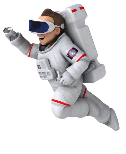 fun 3d illustration of an astronaut