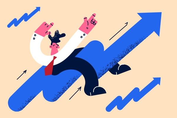 development stock market rising positive growing