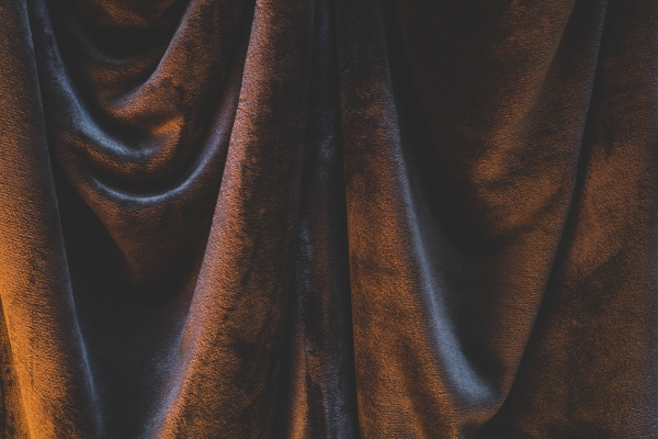 detail of draped and crumpled velvet