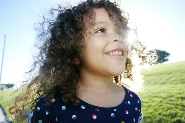young mixed race girl aged 4