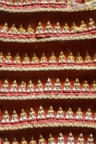 buddhas statues and carving in a