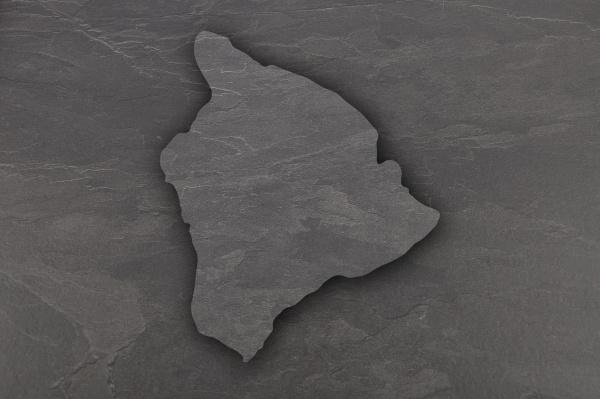 map of hawaii on dark slate