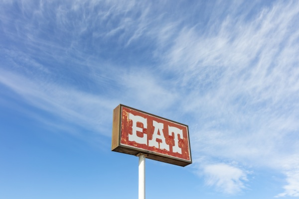 retro style eat sign at a