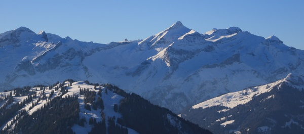 mount oldehore and diablerets glacier in