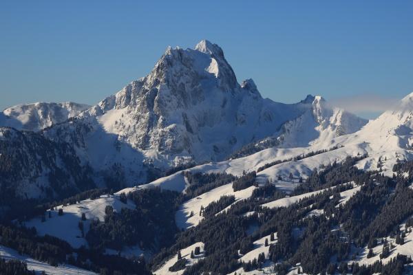 gummfluh, in, winter, , mountain, near, gstaad, - 30681651